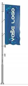 Hliníkový vlajkový stožár Super Windy