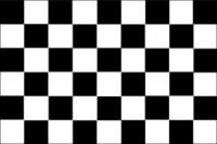Šachovnicová vlajka - štartové