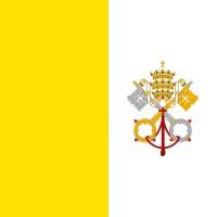 Samolepka - vlajka Vatikán