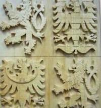 Vyřezávaný státní znak ČR