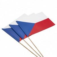 Papírová vlaječka na špejli