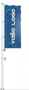 Sklolaminátový vlajkový stožár Super Plus