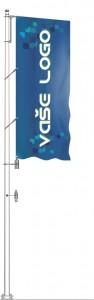 Sklolaminátový vlajkový stožár Super Windy