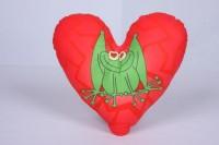 Polštářek srdce - oboustranný
