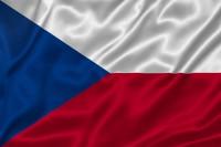 Luxusní saténová vlajka ČR