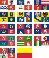 Komplet vlajek krajů ČR